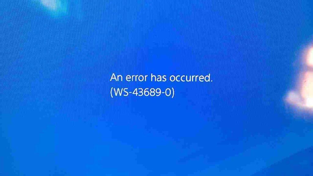 PS4 Error Code WS-43689-0 fix