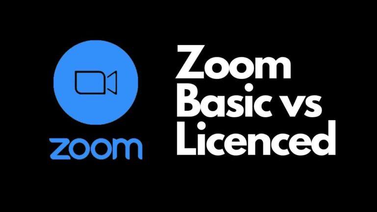 Zoom Basic vs Licensed Comparison 2021