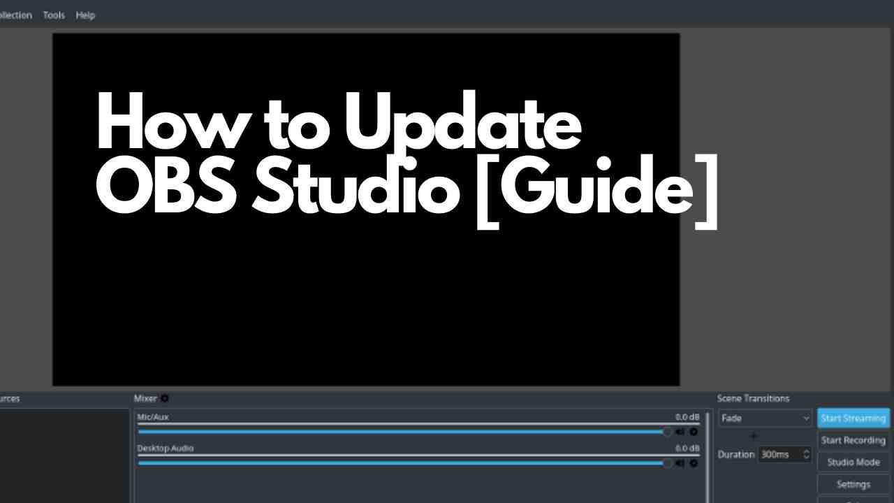 How to Update obs studio
