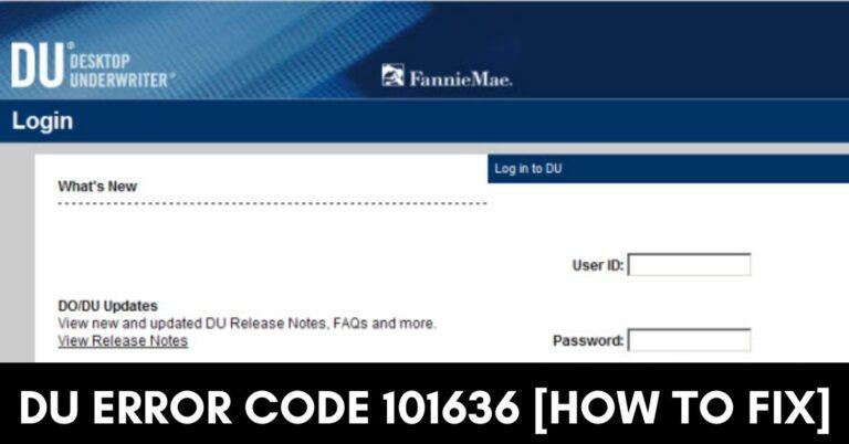 DU Error Code 101636 [Fixed 2021]