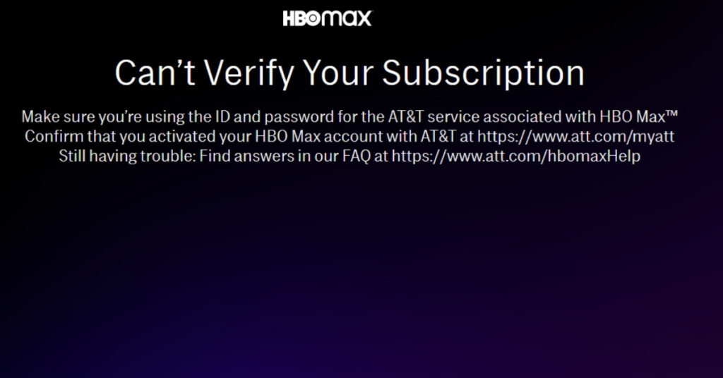 HBO Max Renew Subscription Error