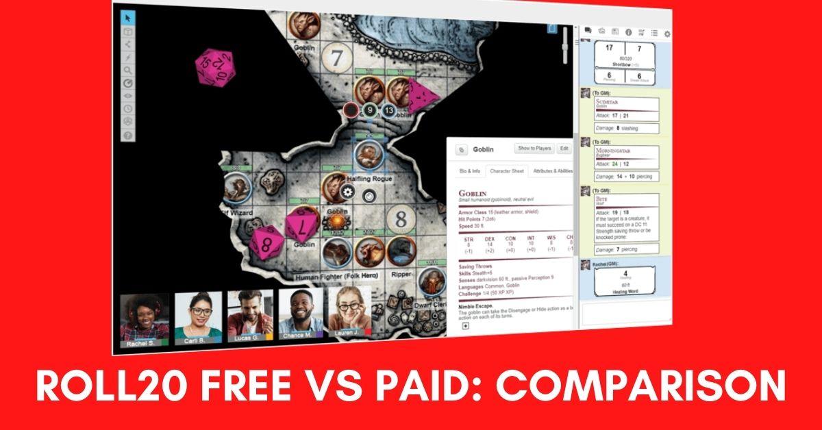 Roll20 Free vs Paid