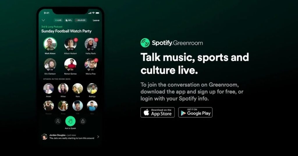 Spotify Greenroom vs Clubhouse