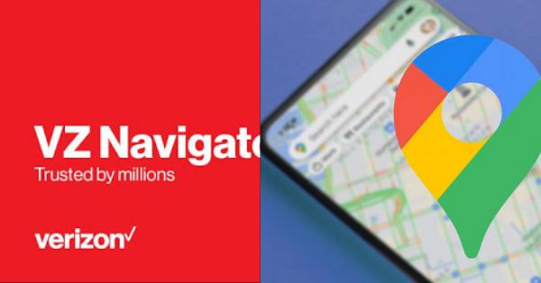 VZ Navigator vs Google Maps