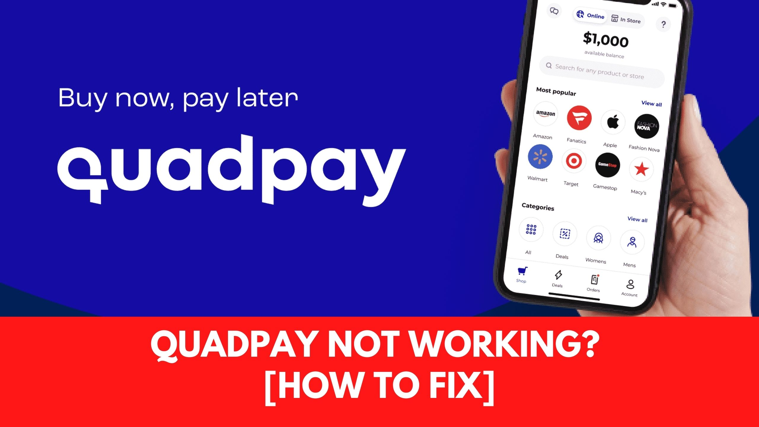 Quadpay Not Working?