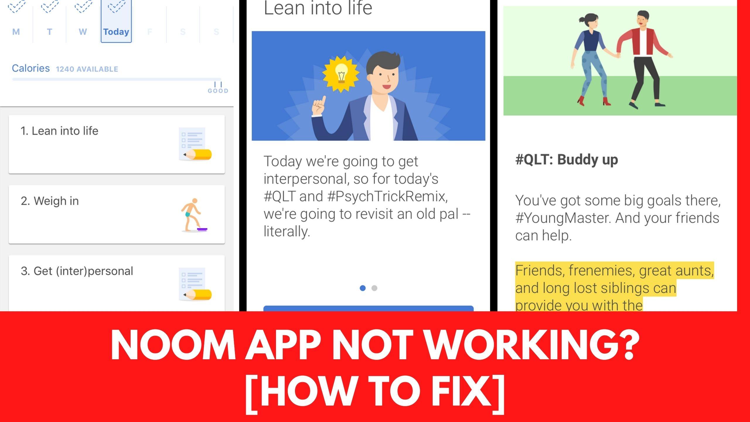 noom app not working fix